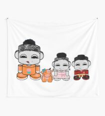 Yum Family: Nom, Jo, Coop & Free O'BABYBOT Toy Robot 2.0 Wall Tapestry