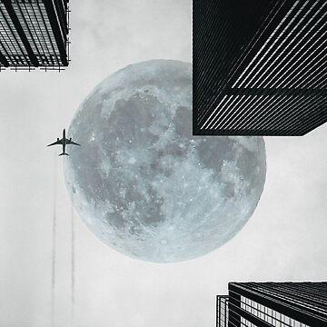 Surreal Urban Moon by john76