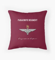 "Parachute Regiment (UK - no flag) ""Every Man An Emperor"" Throw Pillow"