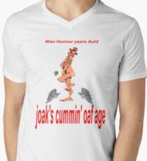 joak's Cummin' oaf Age ;Wan Hunner years Auld Men's V-Neck T-Shirt