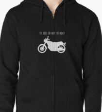 motorcycling Zipped Hoodie