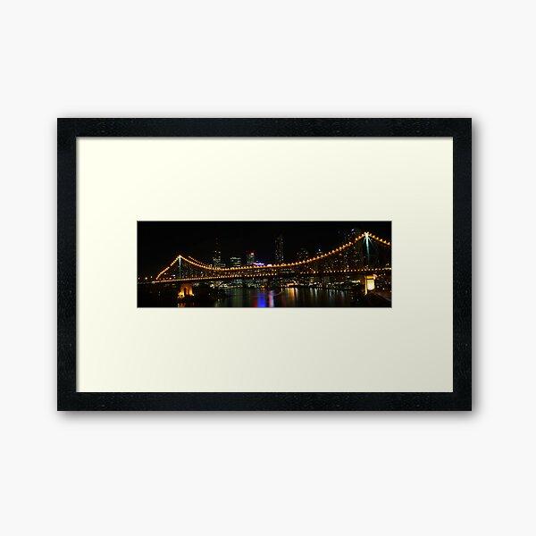 Brisbane and the Story Bridge Framed Art Print
