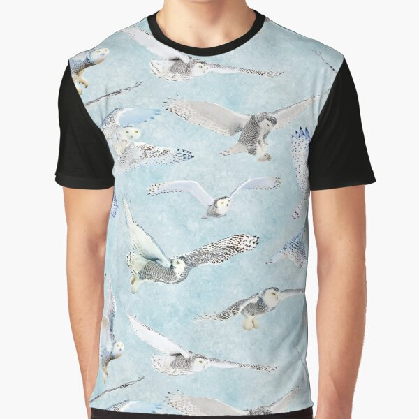 Snowy Owls on Ice Graphic T-Shirt