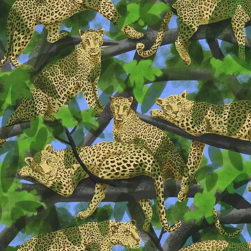 Lazy Leopards in a Tropical Jungle by vinpauld