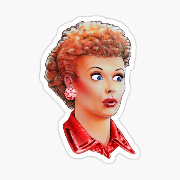 lucille B redhead Sticker