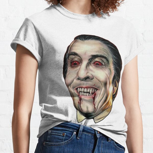 Dracula Face Christopher Lee Classic T-Shirt