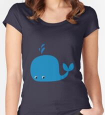Cute Little Whale Women's Fitted Scoop T-Shirt