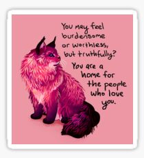 "Pegatina ""Eres un hogar para la gente que te quiere"". Norwegian Forest Cat"