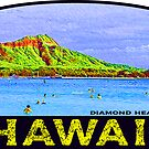 Hawaii Diamond Head Honolulu Vintage Beach Oahu by MyHandmadeSigns