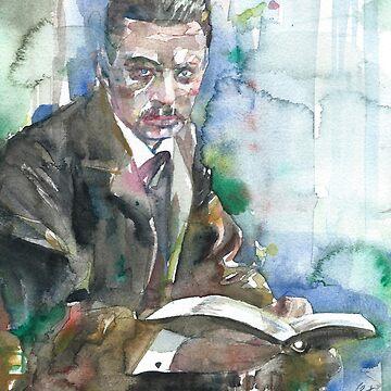RAINER MARIA RILKE - watercolor portrait.5 by lautir