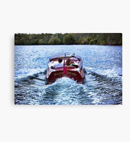 Boating at Sunset Canvas Print