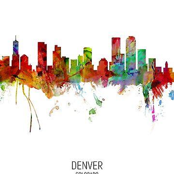 Denver Colorado Skyline by ArtPrints