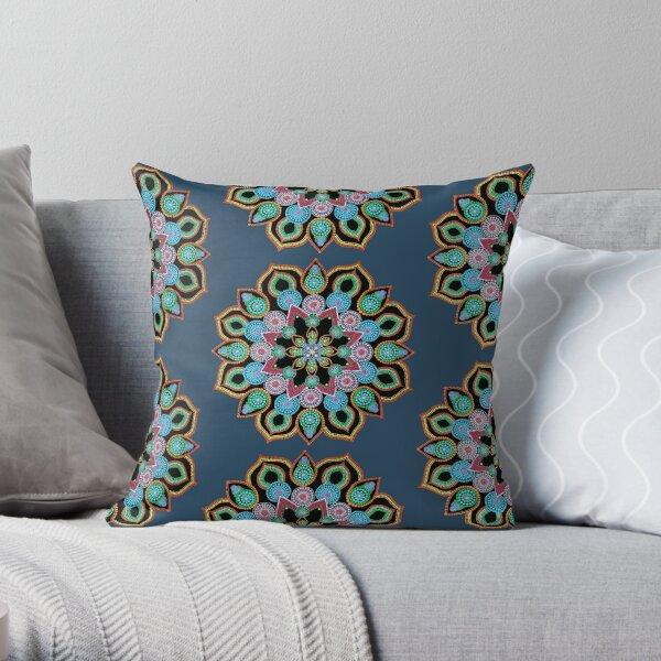 Red Star Dot Mandala - Art&Deco By Natasha  Throw Pillow