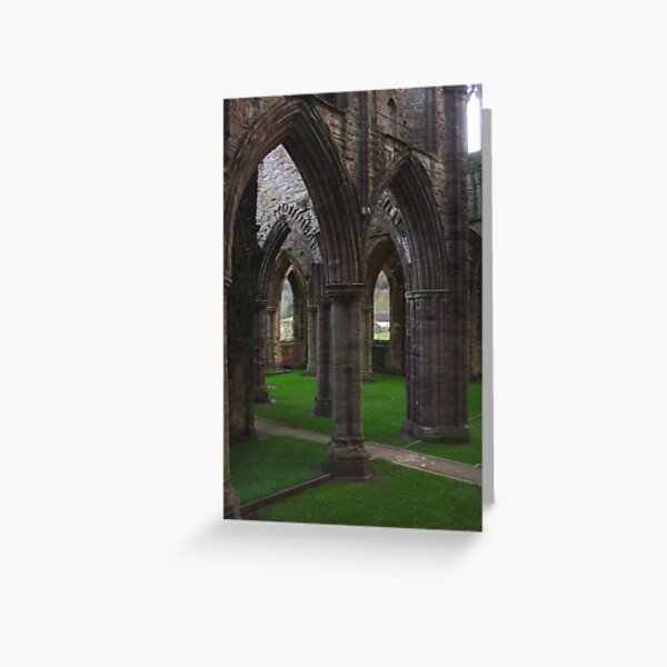 Archway Labyrinth, Tintern Abbey ~ Wye Valley, Monmouthshire 2009 Greeting Card