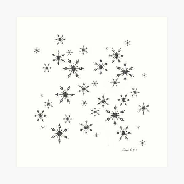 Crochet Impressions: SNOWFLAKE[s] Art Print