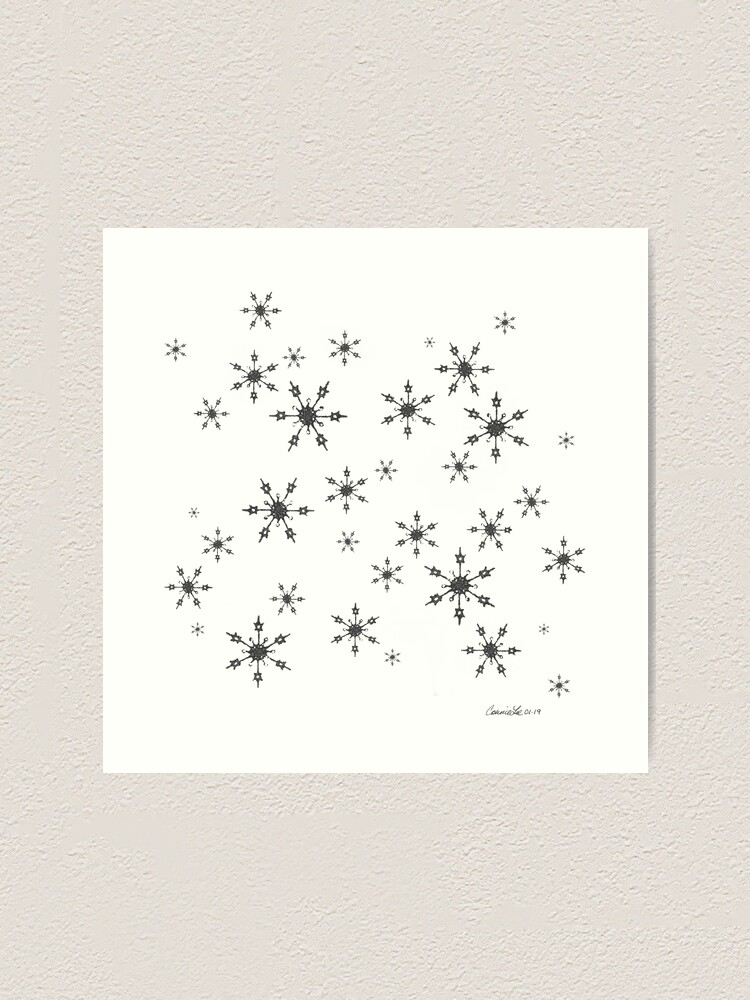 Alternate view of Crochet Impressions: SNOWFLAKE[s] Art Print