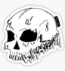 Dripping With Sarcasm - White Skull Sticker