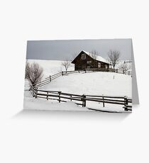 old house and fence Greeting Card