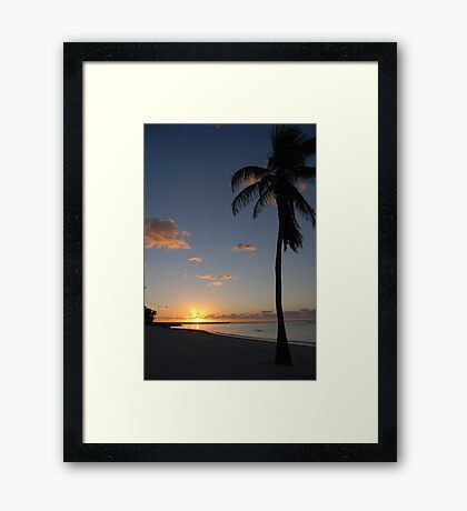 Another pretty sunrise in Key West FL Framed Print