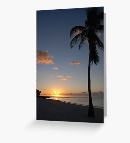 Another pretty sunrise in Key West FL Greeting Card
