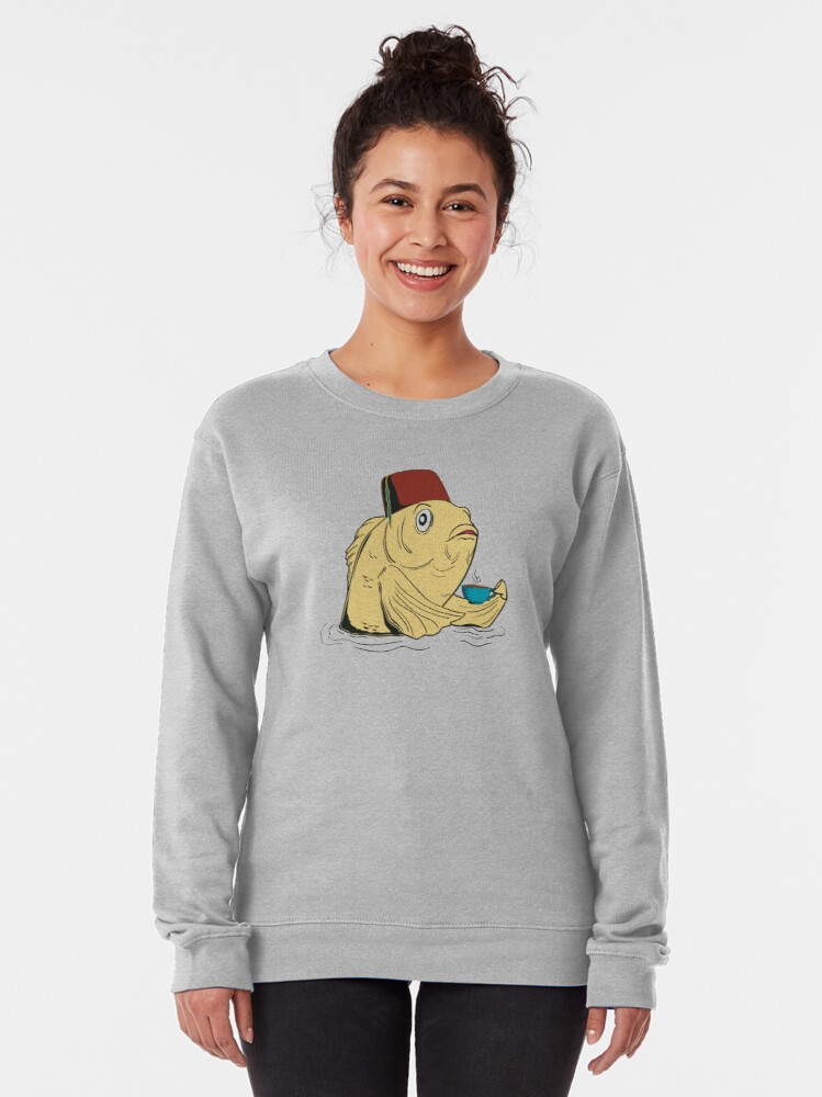 Alternate view of Night of the Cuppa Pullover Sweatshirt