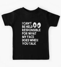 I Can't Be Held Responsible T-Shirt funny saying sarcastic Kids Tee