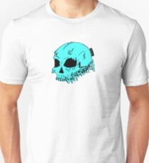 Dripping With Sarcasm - Turquoise Skull Unisex T-Shirt