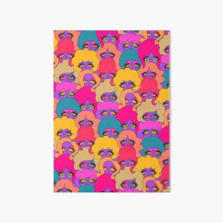 Colorful Ladies Art Board Print
