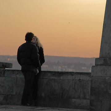 Sunset kiss by AleFairyland