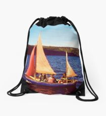 Red Sails In Broad Daylight ~ Loch Ness Drawstring Bag