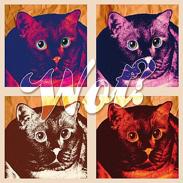 Wot? Funny cat lovers t shirt by anguishdesigns