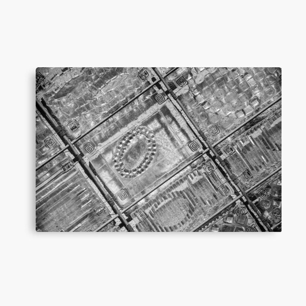 Black and White Abstract Geometric Photography Canvas Print