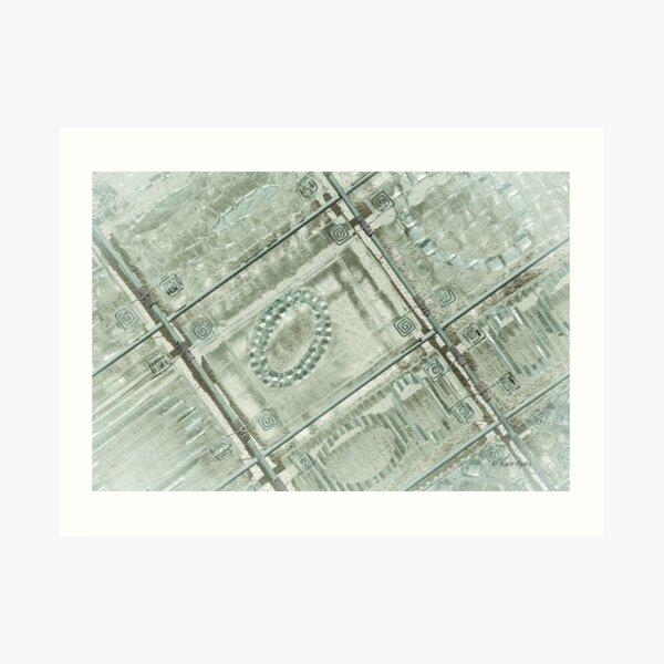 Abstract Geometric Design Photography - Teal Art Print