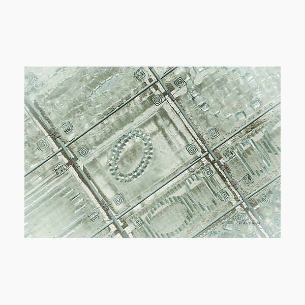Abstract Geometric Design Photography - Teal Photographic Print