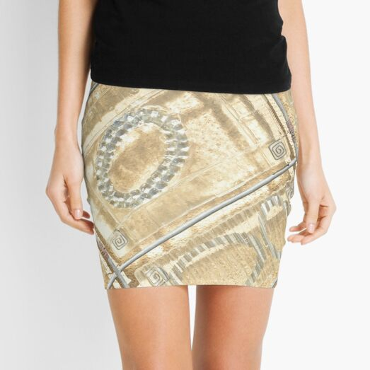 Abstract Photography Sand Colored Geometric Design - Sand Beige Neutral Mini Skirt