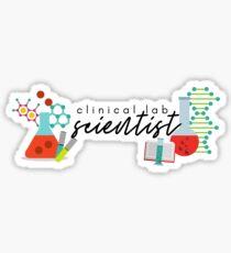 Clinical Lab Scientist Design  Sticker