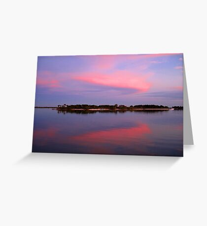 Pink sky after sunset Greeting Card