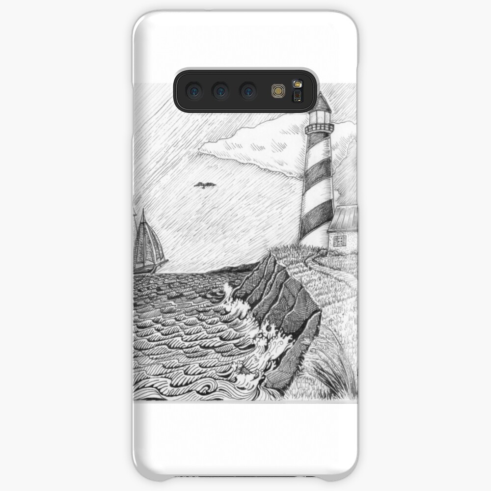 Lighthouse black and white Case & Skin for Samsung Galaxy