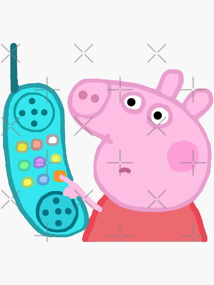 Peppa Pig Hanging Up Sticker by gaylegend