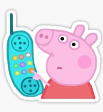 Peppa Pig Up Sticker aufhängen Sticker