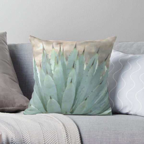 Succulents, Dreamy Southwest Photography - Agave Cactus 3 Throw Pillow