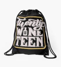 Twenty-Wine-Teen Drawstring Bag