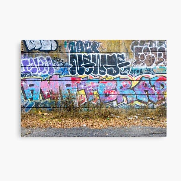 Abstract Graffiti Wall Art Photography - The Wall Metal Print