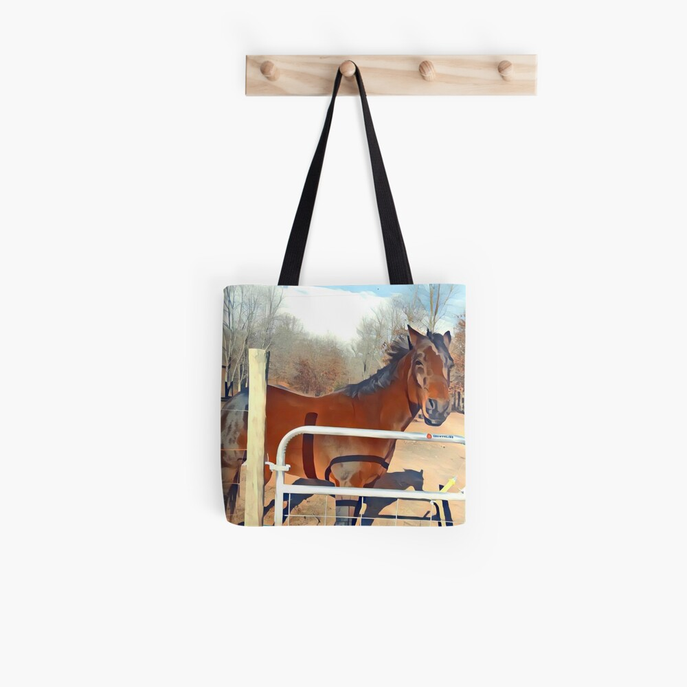 Braunes Pferd Bild Tote Bag