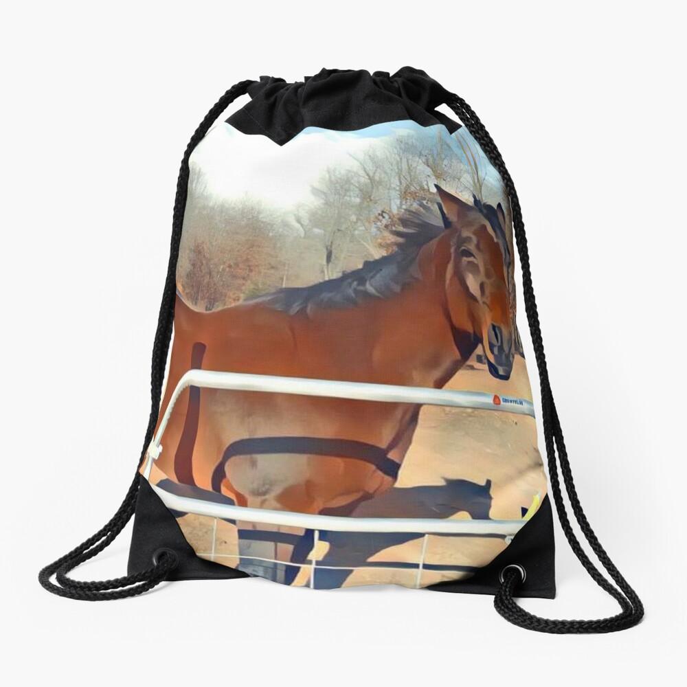 Braunes Pferd Bild Turnbeutel