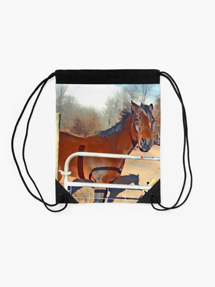 Alternative Ansicht von Braunes Pferd Bild Turnbeutel