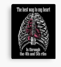 The Best Way to My Heart - Reverse Image Canvas Print