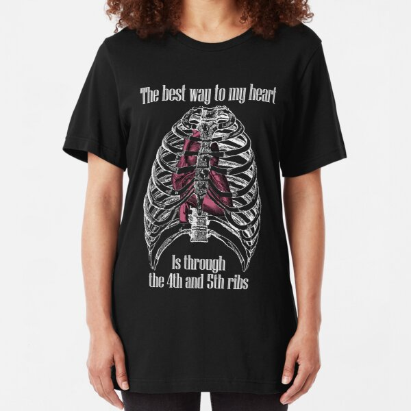 The Best Way to My Heart - Reverse Image Slim Fit T-Shirt