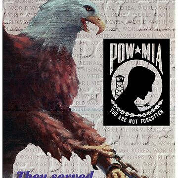 POW MIA Prisoner Of War Missing In Action Eagle by Deadscan