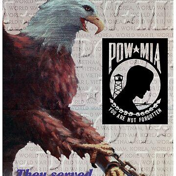 POW MIA Prisoner Of War Missing In Action Eagle by Deadscan